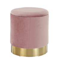 Taburet Aniza cu spațiu de depozitare, roz, 38 x 42 cm