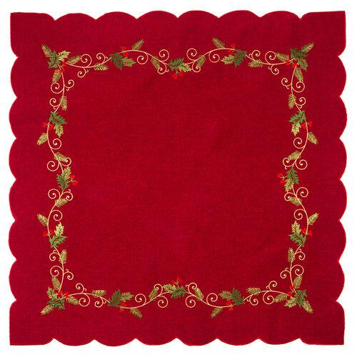 Faţă de masă crăciun Cesmina roşie, 85 x 85 cm