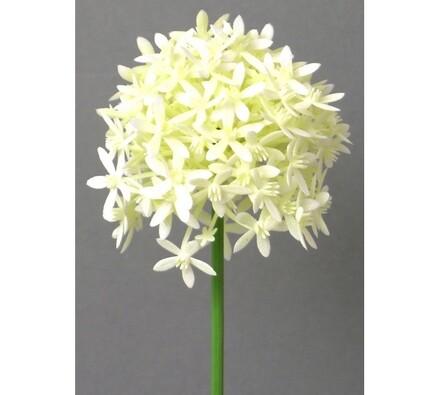 Umělé květiny - česnek, bílá