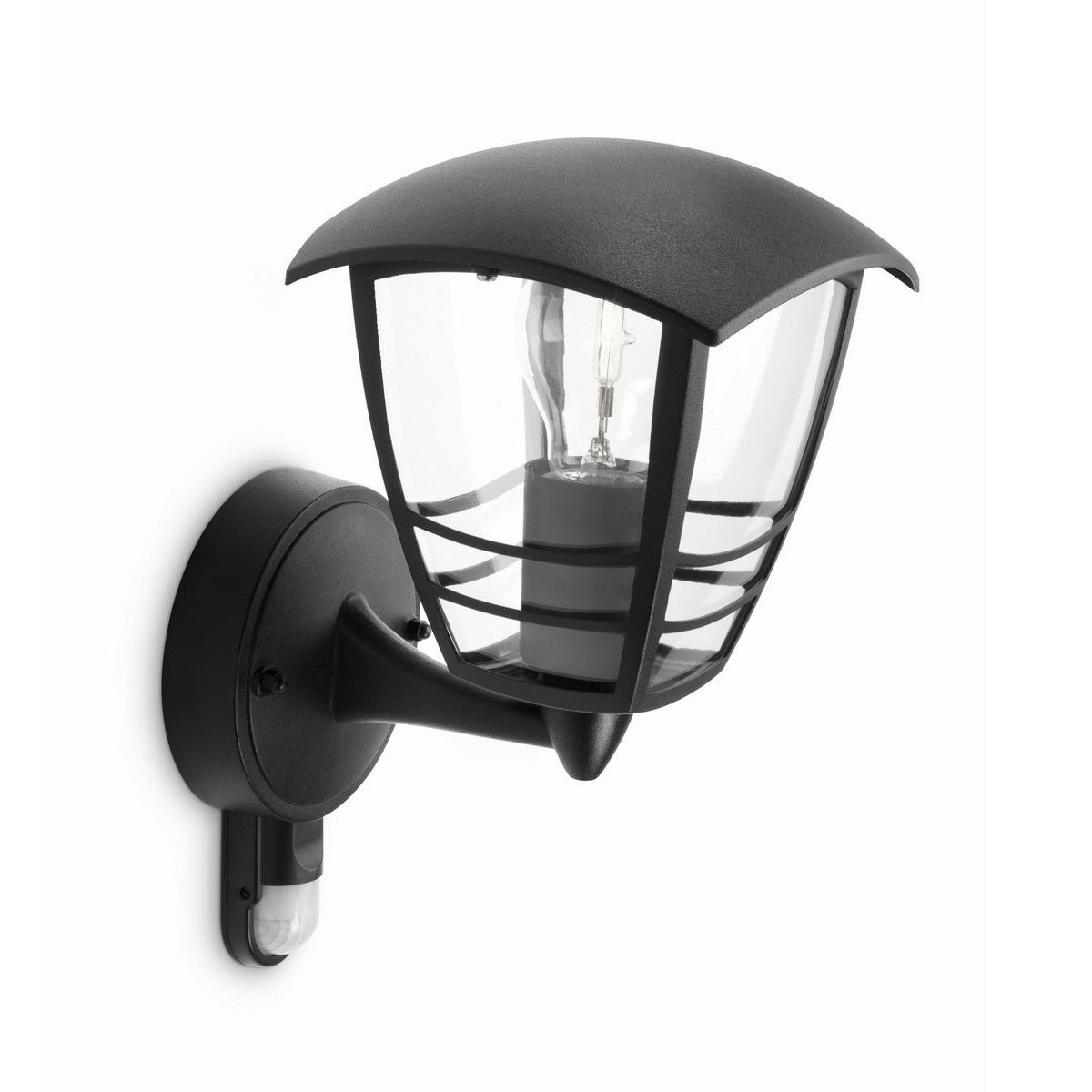 Philips 15388/30/16 Creek Venkovní nástěnné svítidlo s čidlem 28,5 cm, černá