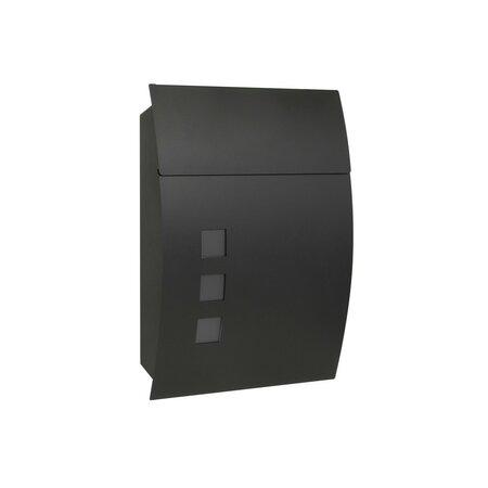 Poštová oceľová schránka Parla, matná čierna