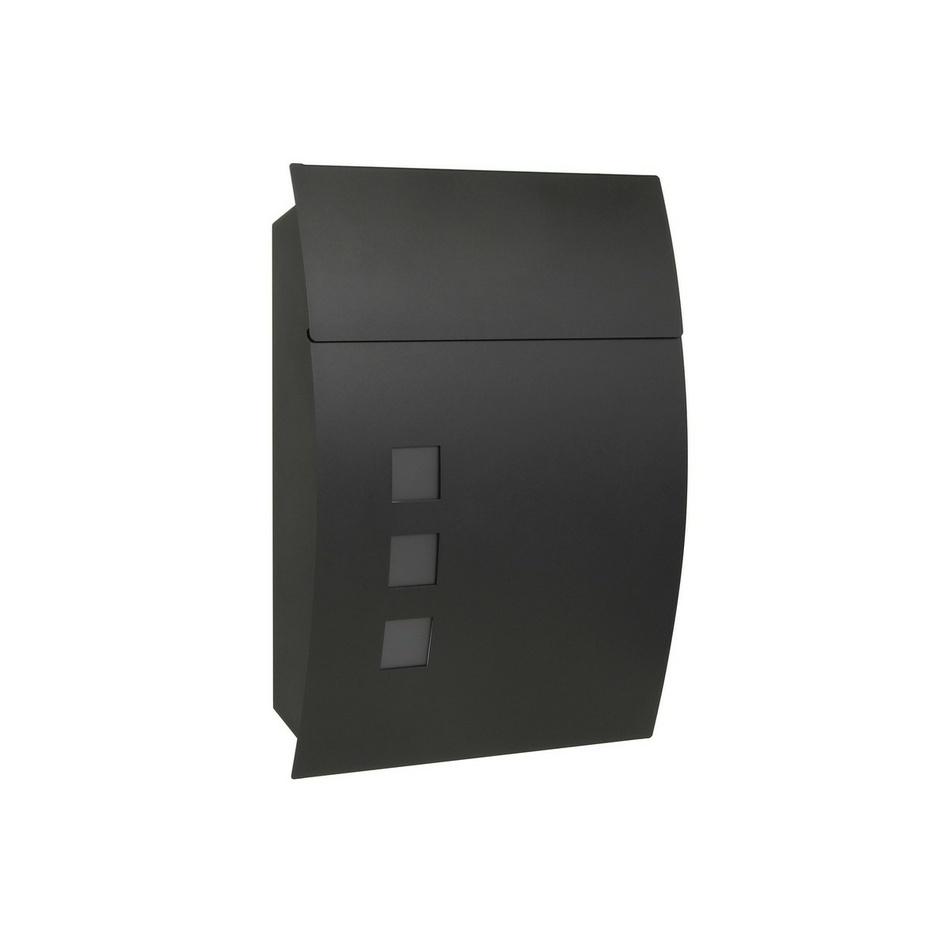 Richter Poštovní ocelová schránka Parla, matná černá
