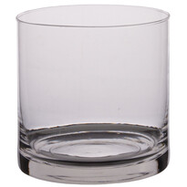 Świecznik szklany, 25 x 15 cm