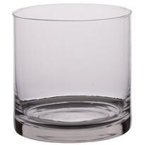 Üveg gyertyatartó, 25 x 15 cm