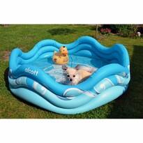 Alcott Nafukovací bazén pre psov, 121,9 x 40,6 x 121,9 cm, modrá