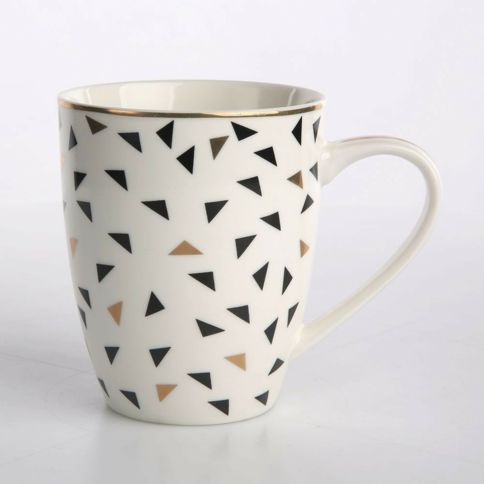 Altom Porcelánový hrnček Nordic Winter Triangles, 340 ml