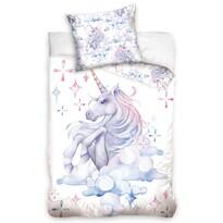 Lenjerie de pat din bumbac pentru copii Unicorn Waterprint, 140 x 200 cm, 70 x 90 cm
