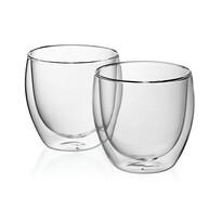 Kela 2-częściowy komplet szklanek na cappuccino CORTONA, 200 ml