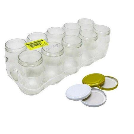 Zavařovací sklenice 10 ks + sada 10 ks víček