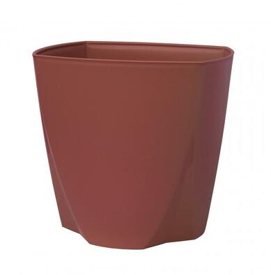 Plastový květináč Camy 16 cm, rubínová