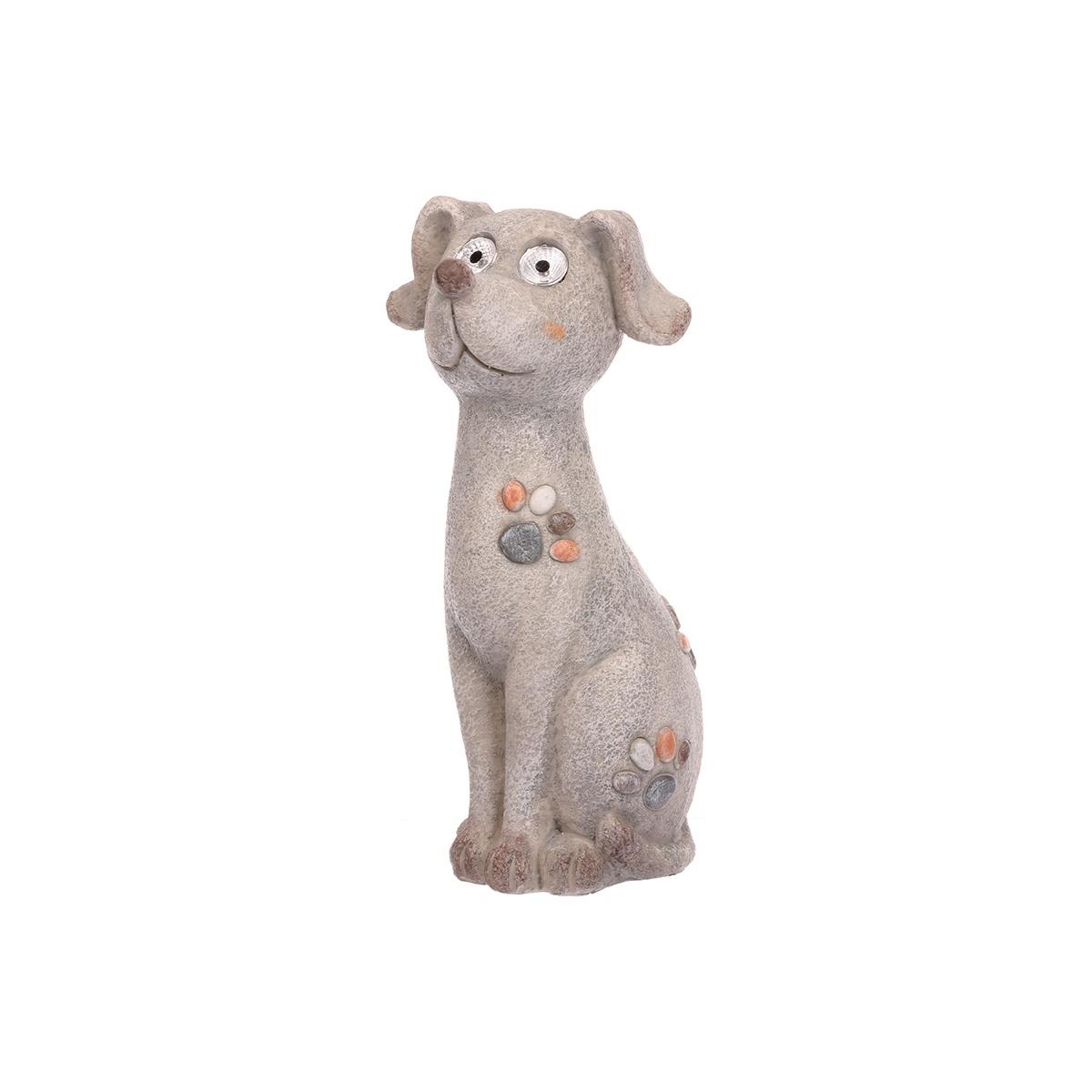 Levně Zahradní solární dekorace Pes Benny, 29 cm