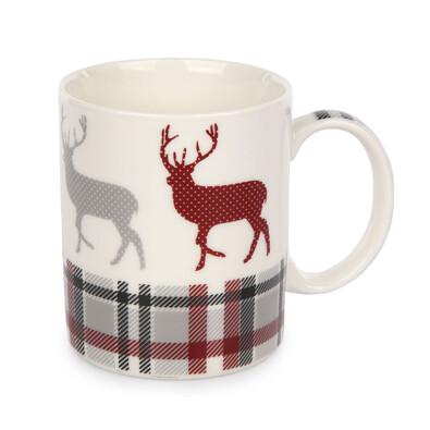 Vánoční porcelánový hrnek Grey, 350 ml, sob