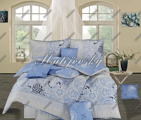 Matějovský bavlnené obliečky Afrodita modrá, 220 x 210 cm, 2 ks 70 x 90 cm