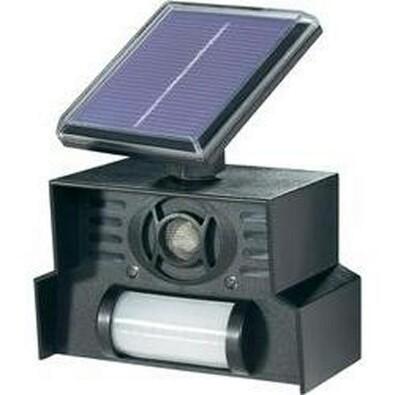 Conrad Solární odpuzovač zvířat s PIR senzorem černá
