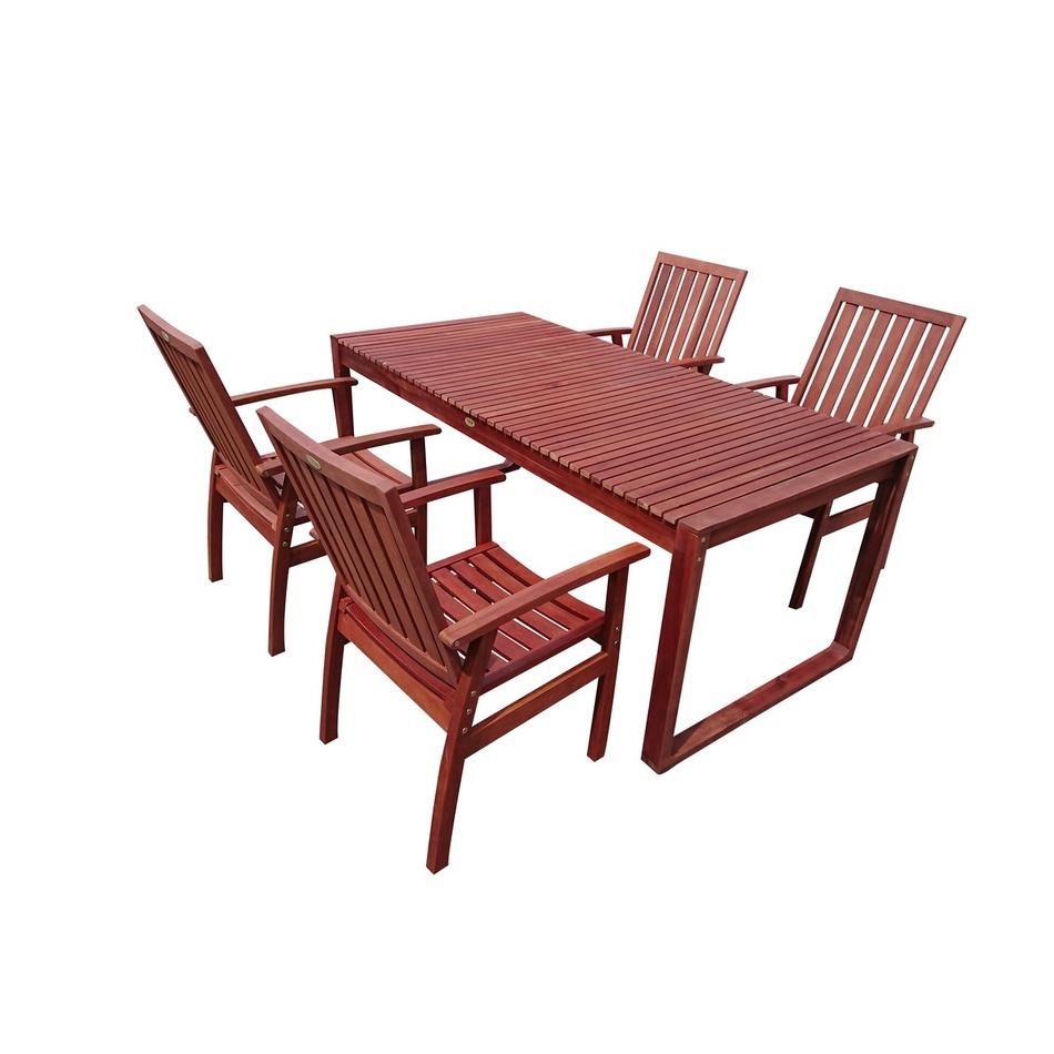 5dílný set zahradního nábytku Dining, eukalyptus