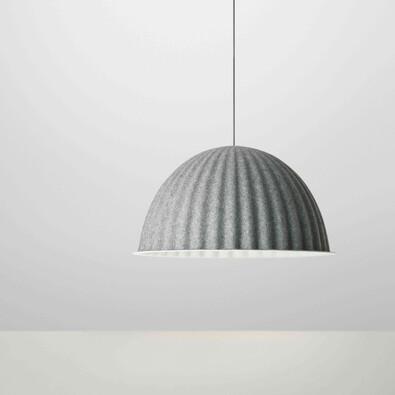 Závěsná lampa Under The Bell 82 cm, šedá