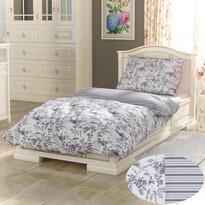 Kvalitex Bavlněné povlečení Provence Montera šedá, 140 x 200 cm, 70 x 90 cm