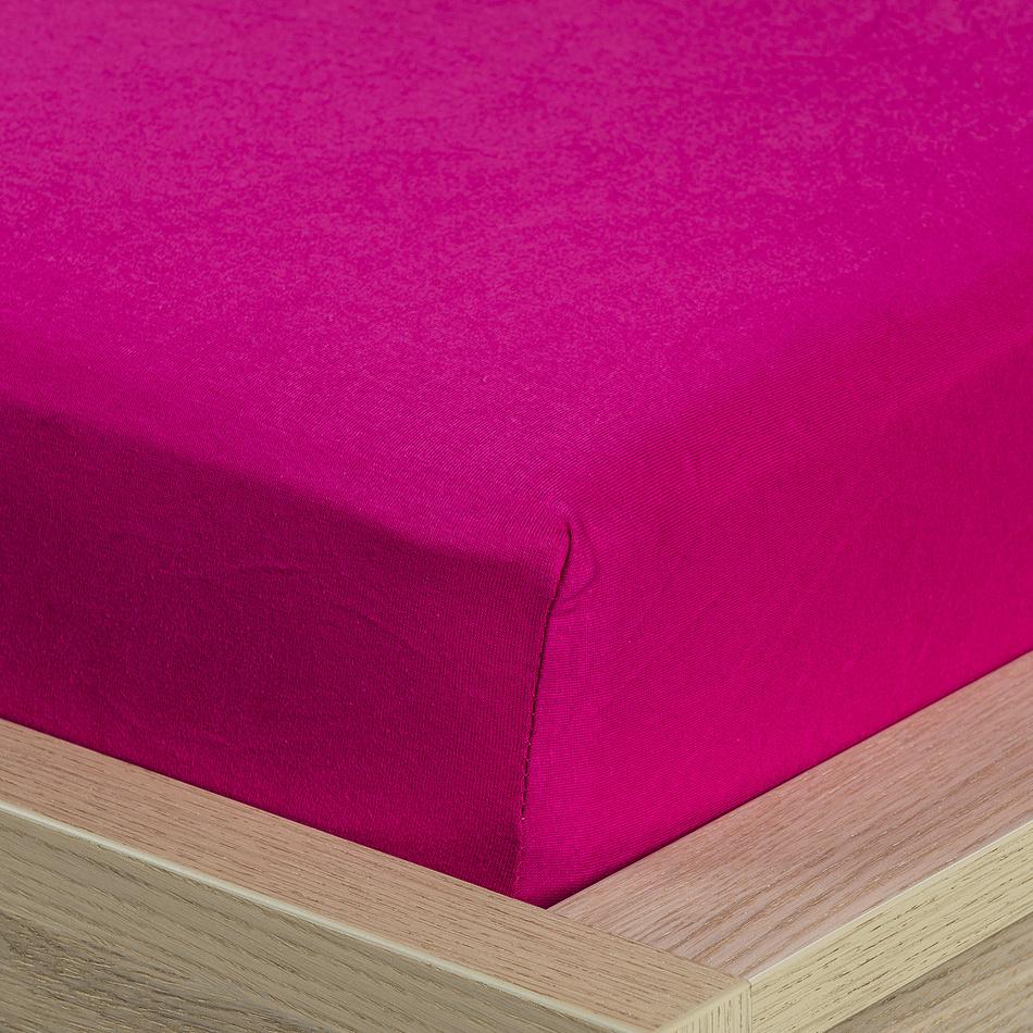 4Home jersey prostěradlo růžová, 160 x 200 cm