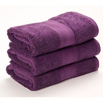 Ručník Egyptian Soft fialová, 30 x 50 cm