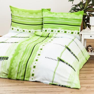 Saténové povlečení Maxim green, 140 x 220 cm, 70 x 90 cm