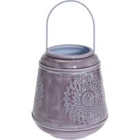 Hliníková lucerna Larmes fialová, 19 cm