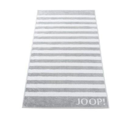 JOOP! ručník Stripes světle šedý, 50 x 100 cm