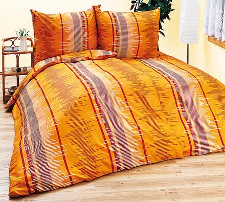 Povlečení Katrin, 2+2, oranžová, 140 x 200 cm, 70 x 90 cm