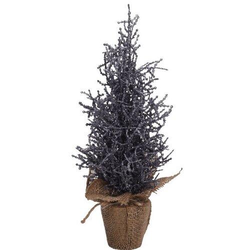 Vánoční stromek v jutě Monza 35 cm, tm. Šedá