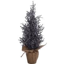Vianočný stromček v jute Monza 35 cm, tm. sivá