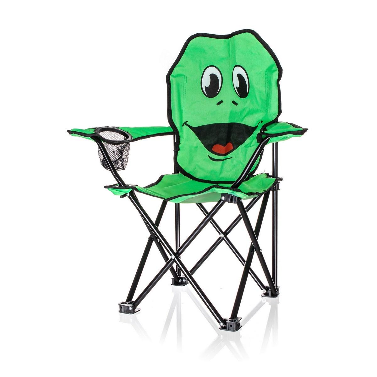Fotoliu pliabil Happy Green Broască, pentru copii imagine 2021 e4home.ro