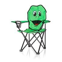 Fotoliu pliabil Happy Green Broască, pentru copii