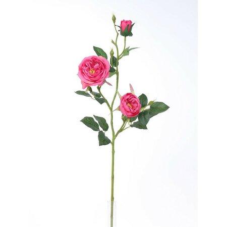 Sztuczna róża angielska, różowy, 69 cm