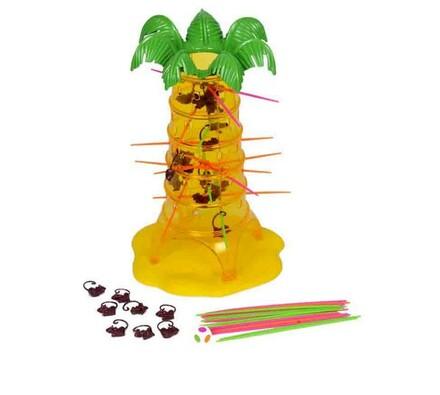 Hra Padající opičky Mattel, žlutá