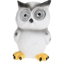 Solární světlo Standing owl bílá, 9 x 9 x 12,5 cm
