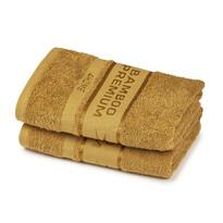 4Home Bamboo Premium ručník světle hnědá, 50 x 100 cm, sada 2 ks