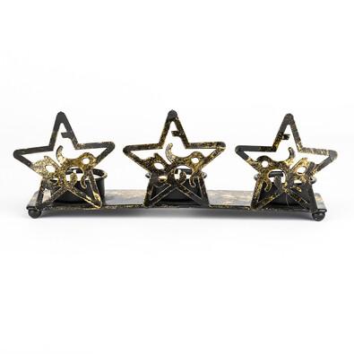 Kovový svícen hvězdy
