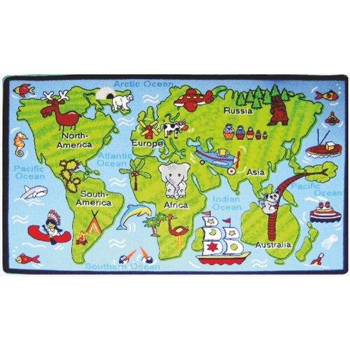 Spoltex Dětský koberec Kids Světadíly, 100 x 150 cm