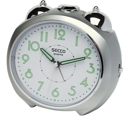 Secco S CA515-4 budík stříbrný