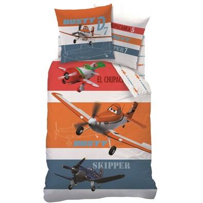 Dětské bavlněné povlečení Planes Skipper, 140 x 200 cm, 70 x 90 cm