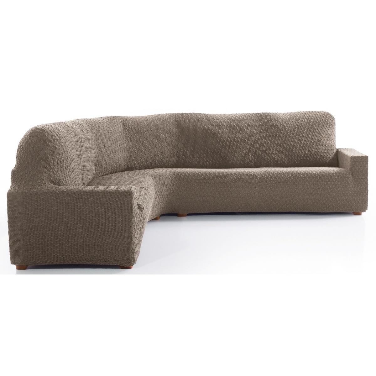 Forbyt Multielastický potah na rohovou sedací soupravu Martin béžová, 340 - 540 cm