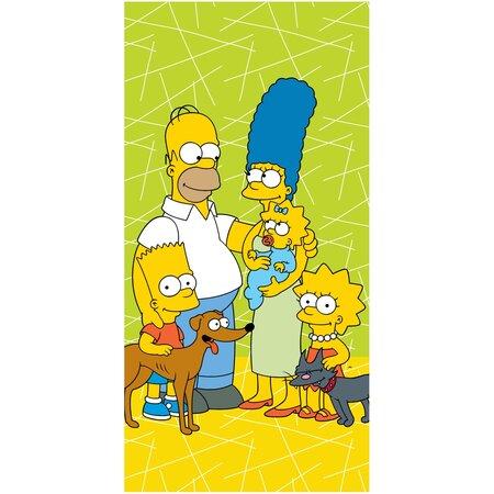 Ręcznik kąpielowy The Simpsons family green 02, 70 x 140 cm