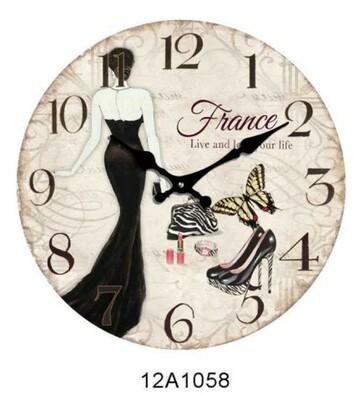 Nástěnné skleněné hodiny France 34 cm