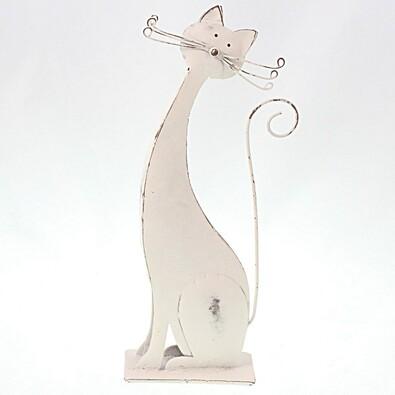 Kovová dekorace kočka