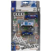 Rendőrség gyermek játékkészlet, 10 db-os