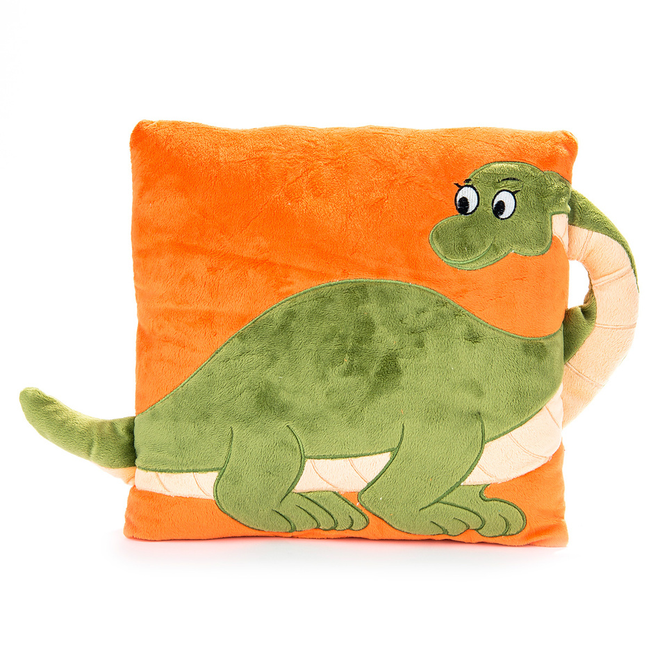 BO-MA Trading Vankúš s uchom dinosaurus, 33 x 33 cm