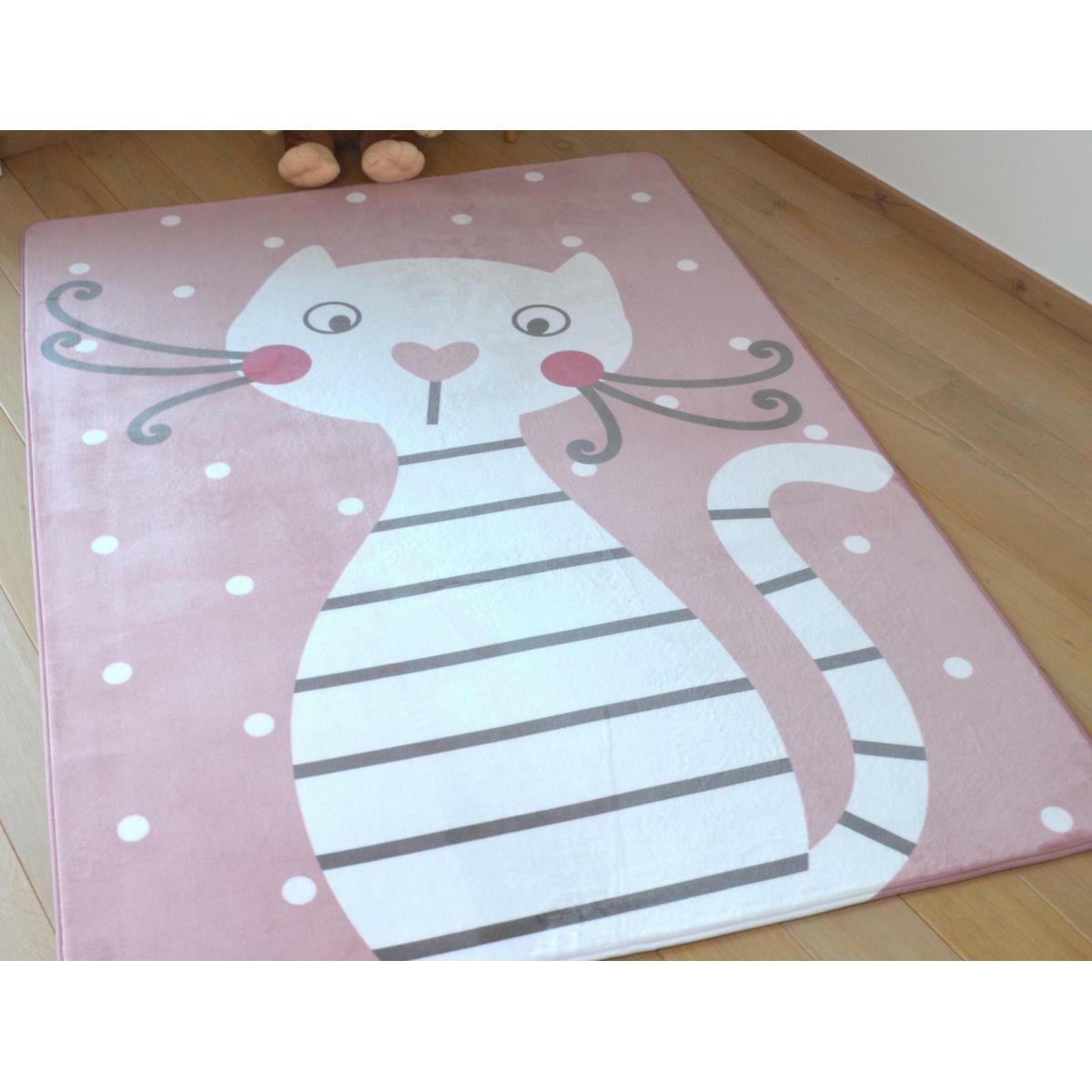 Vopi Detský koberec Ultra Soft Mačička, 90 x 130 cm
