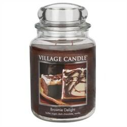 Village Candle Vonná sviečka Čokoládová torta - Brownies Delight, 397 g