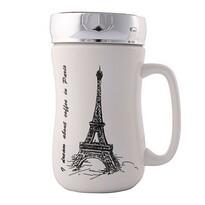 Altom Porcelánový hrnek s víčkem Paris 400 ml
