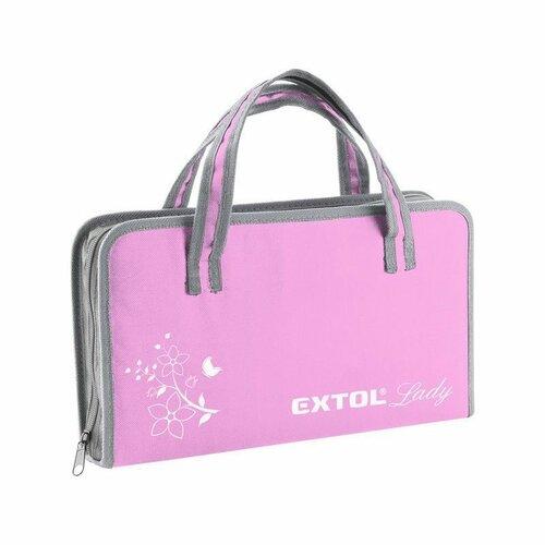 EXTOL-LADY CrV Sada nářadí 39 ks, růžová
