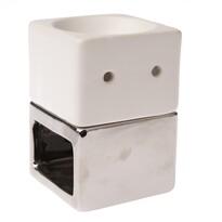 Ceramiczna lampa aromatyczna Alba biały, 8,5 x 12 x 8,5 cm